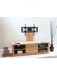 baumhaus mobel oak mounted widescreen tv cabinet cor09e enlarged view baumhaus mobel solid oak mounted widescreen