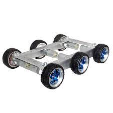 6WD Robot <b>Smart Car Chassis</b> Big Load Large Bearing 330RPM ...