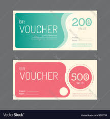 gift voucher coupon template design paper label vector image by gift voucher coupon template design paper label vector image