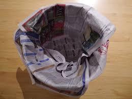 Image result for newspaper in bin