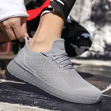 Light Weight Running Shoes For Men <b>2019 Spring Autumn</b> Black ...