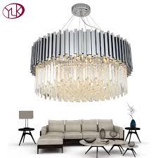 Youlaike New <b>Modern Chandelier Lighting</b> Chrome Polished Steel ...