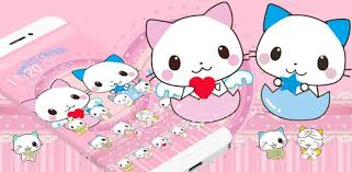 <b>Cute Cartoon Cat</b> Love Theme - ແອັບໃນ Google Play