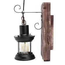 Aimeeli <b>Vintage Industrial Retro</b> Wood Sconce Cafe Wall <b>Lamp</b> ...