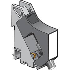 DIN-rail module with <b>F</b>-<b>type coax connector</b> for central mounting of a ...