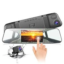 Backup <b>Camera 4.3 Inch</b> IPS Touch Screen 170° Wide Angle 1080P ...