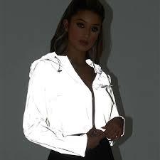 Toneway Clothing Reflective Glowing <b>Jacket Women Coat</b> Trending ...