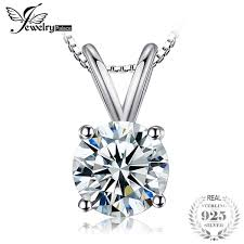 2019 <b>JewelryPalace Classic Round 1ct</b> Solitaire Pendant 925 ...