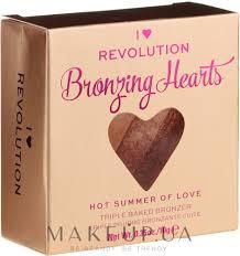 <b>I Heart Revolution</b> Blushing Hearts <b>Bronzer</b> - <b>Бронзер</b> для лица ...