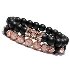 <b>Rose Gold Leather</b> Bracelets: Amazon.com