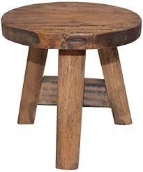 vidaXL <b>Solid Reclaimed</b> Wood <b>Stool Vintage</b>-<b>Style Chair</b> Seat ...