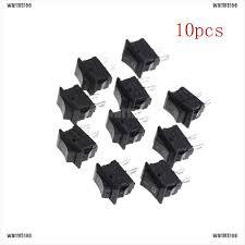 warmtree <b>10Pcs</b> 10*<b>15MM Small</b> Black Rocker Switch KCD1-11 ...