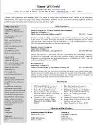 breakupus nice crew supervisor resume example sample construction exquisite related resume examples alluring additional skills to put on a resume also property manager resume sample in addition do you
