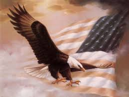 American Flag Background With Eagle   Post your favorite picture of the American Flag or Statute