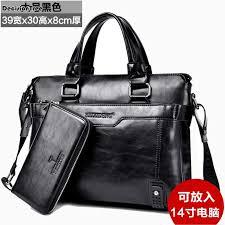 New <b>Brand</b> luxury <b>men's</b> briefcase Soft leather Vintage business bag ...
