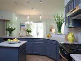 painted blue kitchen cabinets house:  blue cabinets contemporary open kitchen with blue cabinets and granite countertops as seen on