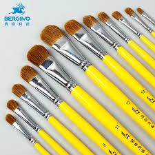 <b>BGLN 6Pcs Weasel Hair</b> Watercolor Paint Brush Set Gouache Oil ...
