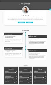best html resume templates for awesome personal sites decent material cv personal resume site template
