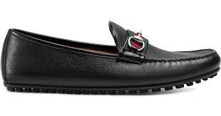 <b>Мокасины</b> С Отделкой Web <b>Gucci</b> для него, цвет: Черный - Lyst