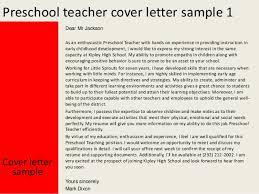 preschool teacher cover letter preschool teacher cover letter