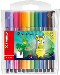 <b>STABILO Набор фломастеров Pen</b> 68 Mini Funnimals 12 цветов ...