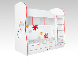 """<b>Кровать Соната Kids</b> двухъярусная 80x200 (Белый """"Ромашки ..."""