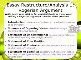 essay   persuasive based on values or humor average was     essay restructure analysis   rogerian argument write down your original  or updated