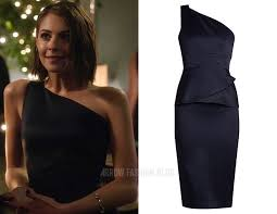 Thea: Navy One Shoulder Dress   <b>Стрела</b>