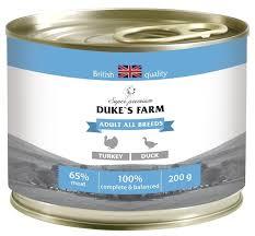 Корм для собак <b>DUKE'S</b> FARM индейка, утка — купить по ...