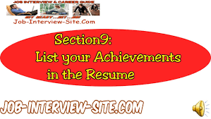 resume achievement statements listing your accomplishments on a resume achievement statements listing your accomplishments on a resume