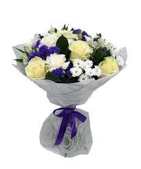 """<b>Букет</b> """"<b>Облачко</b>"""" из роз, альтромерий и хризантем - купить в ..."""