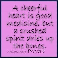 A cheerful heart is good medicine quote with picture ...