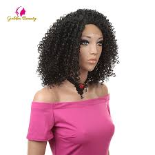 Golden Beauty <b>Afro Kinky Curly</b> Wig <b>14inch</b> Nature Black Brown ...