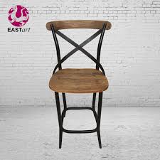 american country loft cross back chair antique retro iron wood bar stool chair style furniture industry american country loft style
