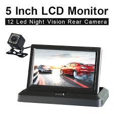 "5.0"" Color HD CCD Car Display 5 Inch Folding <b>New Digital Screen</b> 2 ..."