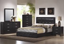 amazing small bedroom design ideas with cool black wooden bedframe including upholstery leather high headboard near bedroom furniture bedroom small