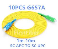 <b>FirstFiber 10PCS 1m 2m</b> 3m SC APC to SC UPC Fiber Patch Cable ...