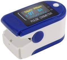 Buy Body Safe Blue <b>Digital Finger Pulse Oximeter</b> - Blood <b>Oxygen</b> ...