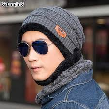 <b>XdanqinX</b> Winter New Knitted Hat Warm Thick Beanies Hat Men's ...