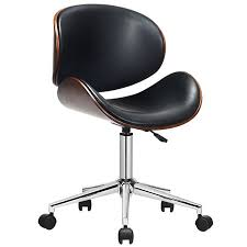 Costway <b>Bentwood Office Chair</b> Mid-Century Executive <b>Desk Chair</b> ...