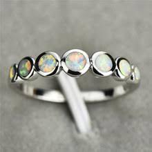 Женское маленькое круглое <b>кольцо Boho</b>, серебряное, голубое ...