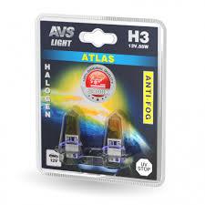Галогенная <b>лампа AVS</b> /<b>ATLAS ANTI-FOG</b>/желтый H3.12V.55W.2шт.