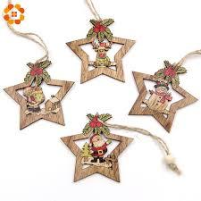 <b>Star Wooden Pendants</b> For <b>Christmas</b> Ornaments <b>Xmas Tree</b> ...