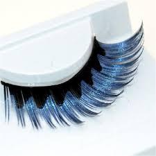 <b>1 pairs colorful</b> blue black staining natural false eyelashes cross ...