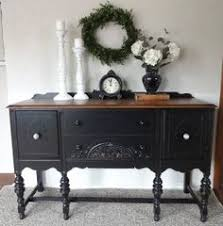 i want this buffet need to get my diy oncreateinspire black painted furniture ideas