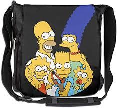 The Simpsons Unisex Single Shoulder Messenger ... - Amazon.com