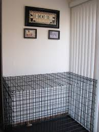 i think youll agree that it is not the most attractive kitchen decor add this to the fact that we have a horribly laid out kitchen with very little furniture style dog crates