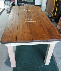 stain dining room table