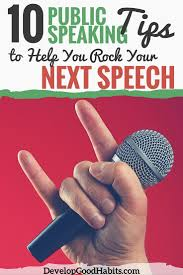 public speaking tips for your next speech