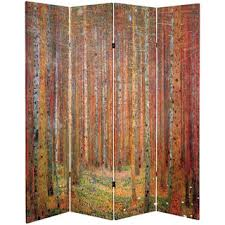 double sided works of klimt tannenwaldfarm garden room divider cheap oriental furniture